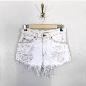 VINTAGE LEVI'S Furst of a Kind Denim Shorts White
